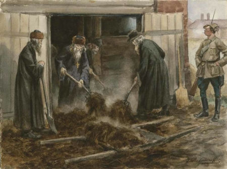 Forced labor of Russian clergy by the Jewish Bolsheviks, 1919